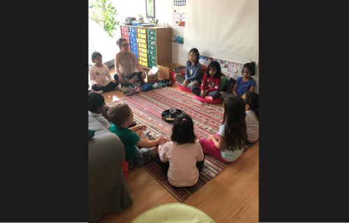 Relaxation time for PYP Grade 1 students with Anna Bernadas